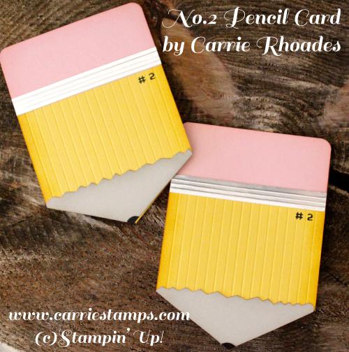 Pencil Shaped Card