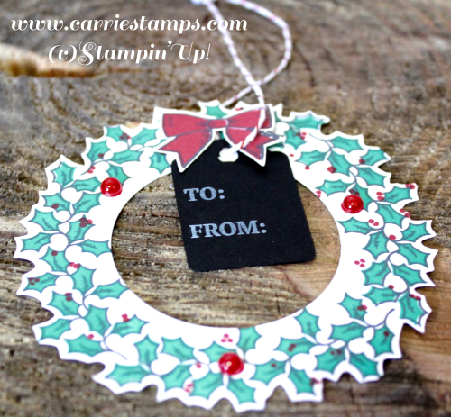 Holly Berry Happiness Wreath Tag 2