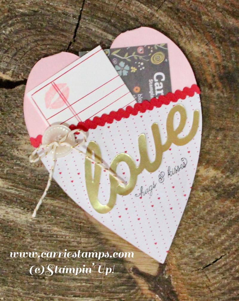 Heart shaped valentine card 2