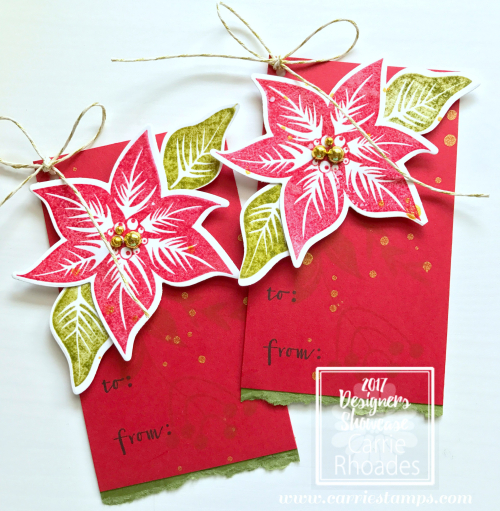 Poinsettia Burst Tag