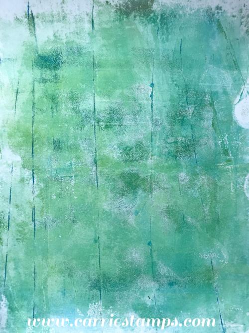 Green streaked print