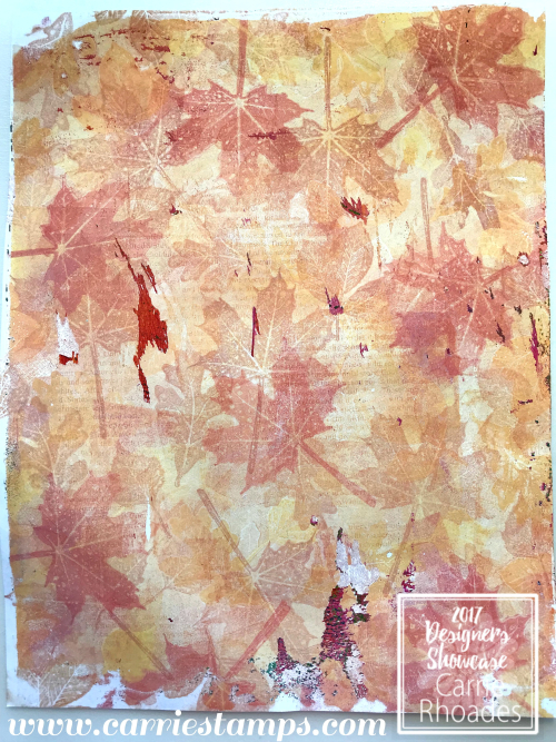Hello Fall Gel Press Background paper