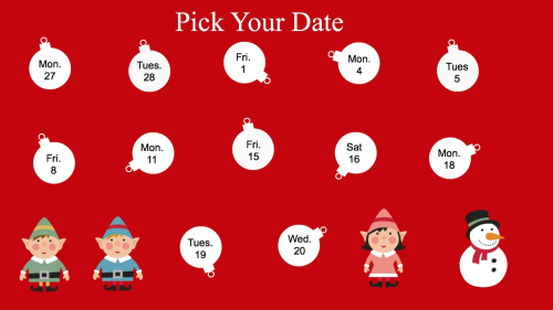 Pick your date