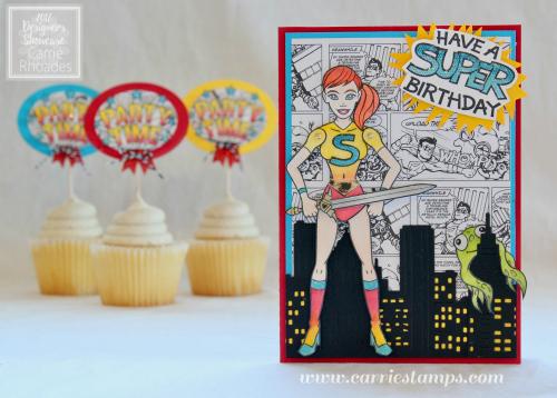 Super Girl Bday card