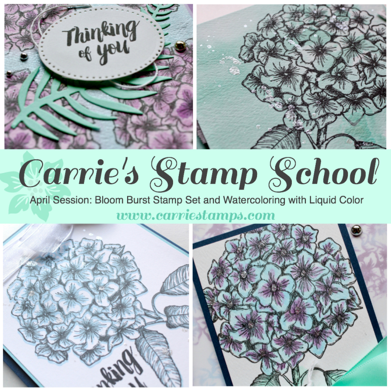Carrie's Stamp School April