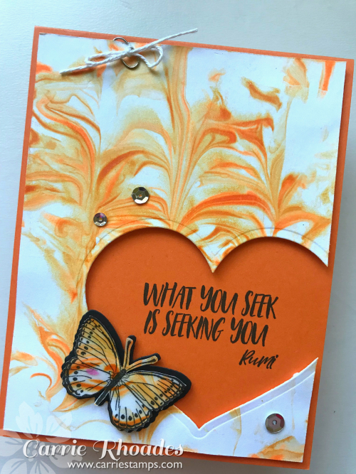 Orange Shaving Cream Butterfly
