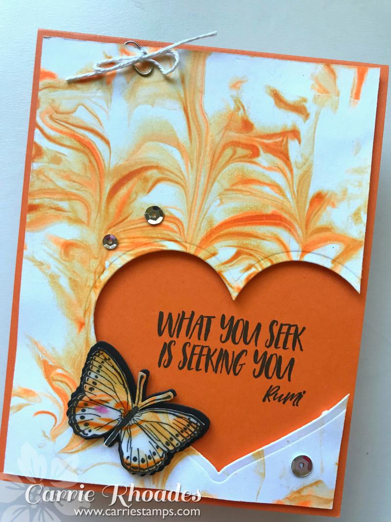 Orange Shaving Cream Butterfly