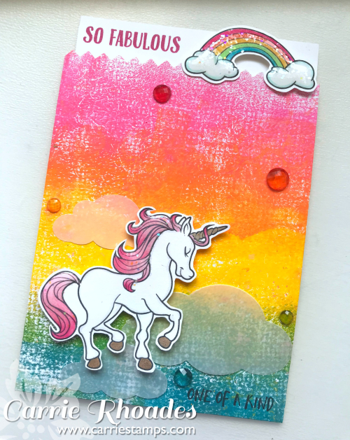 Rainbow Unicorn Card Holder