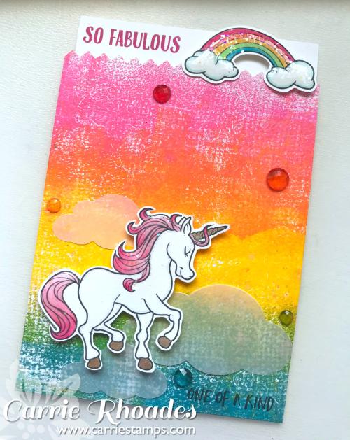 Rainbow Unicorn Card Holder