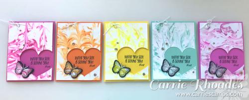 Shaving Cream Butterfly cards