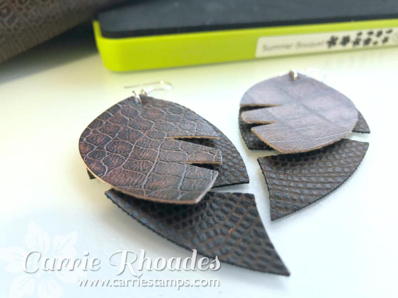 Leather Earrings 3