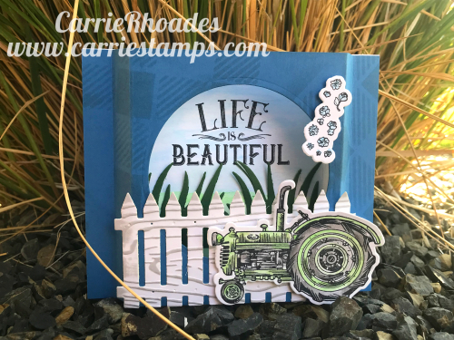 Shadow Box Tractor card