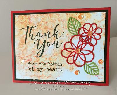 Many Thanks FSJ stamp thank you card