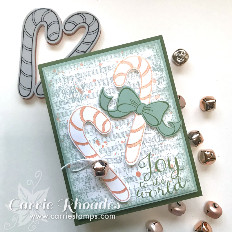 Rose Gold Christmas Candy Cane