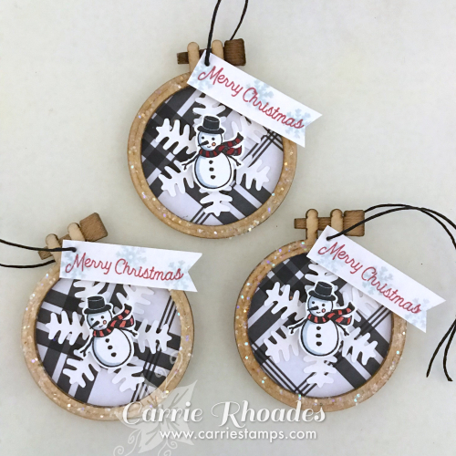 Mini Hoop Ornaments