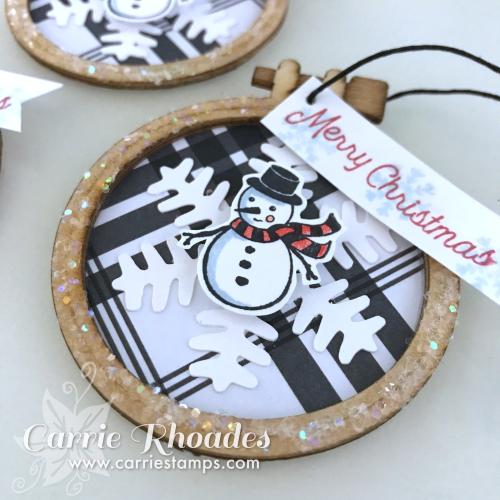 Mini Hoop Snowman CU