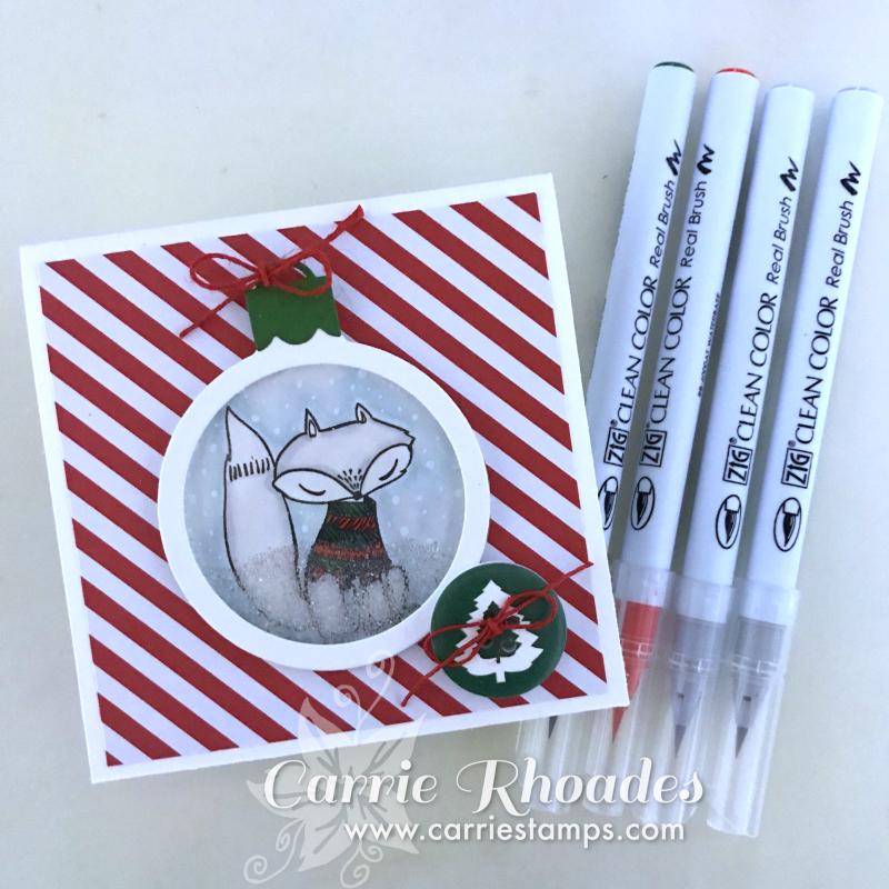 Fox Ornament Card