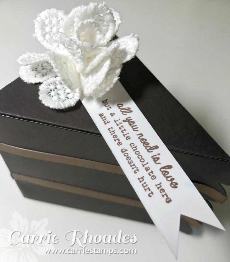 Chocolate cake slice box