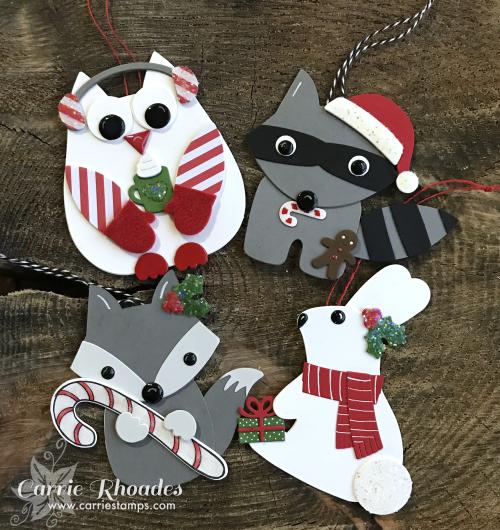 Paper woodland ornaments