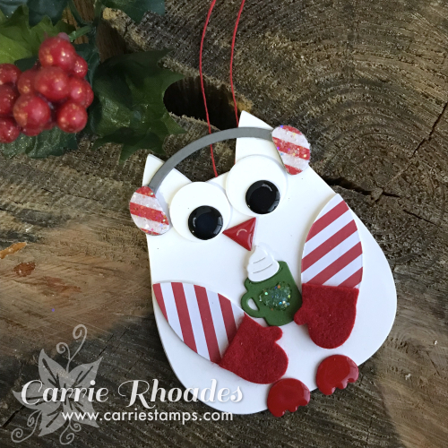 Paper owl ornament