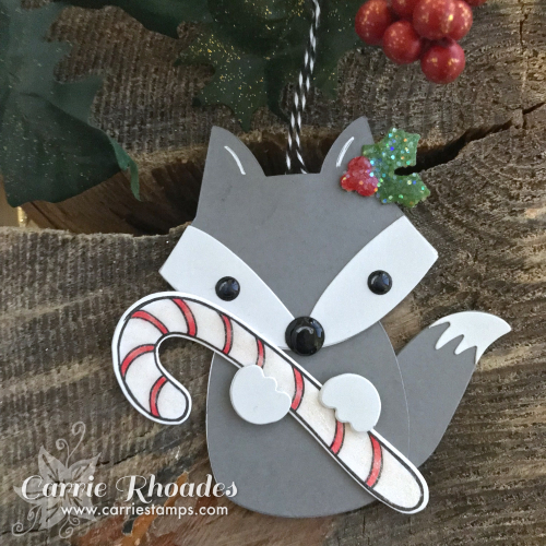 Paper fox ornament