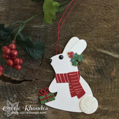 Paper bunny ornament
