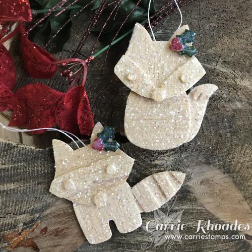 Glittered bwood ornaments