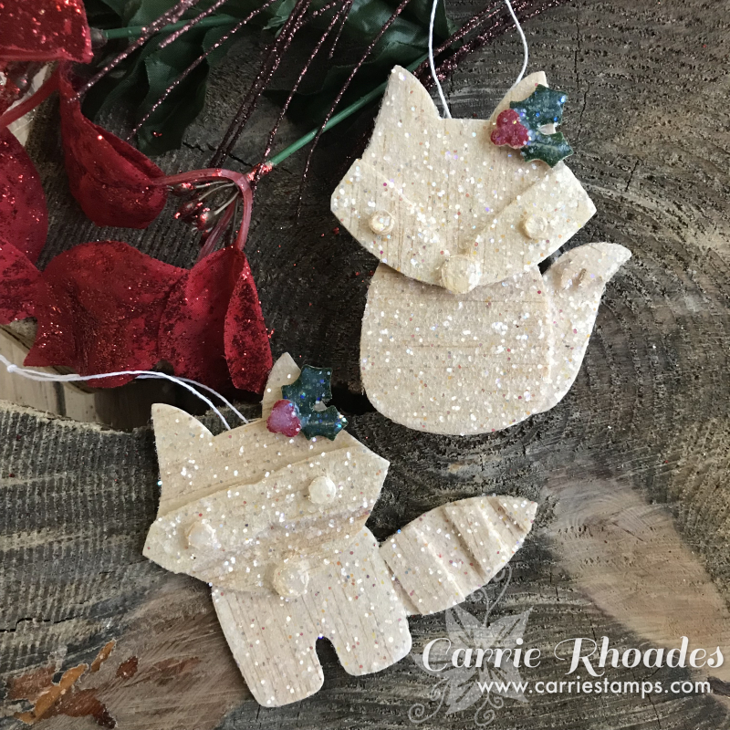 Glittered bwood ornaments