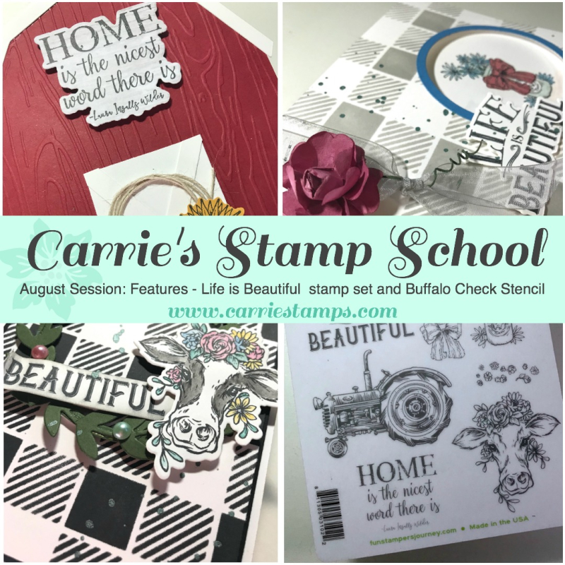 Carrie's Stamp School - August