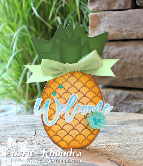 Pineapple card cover
