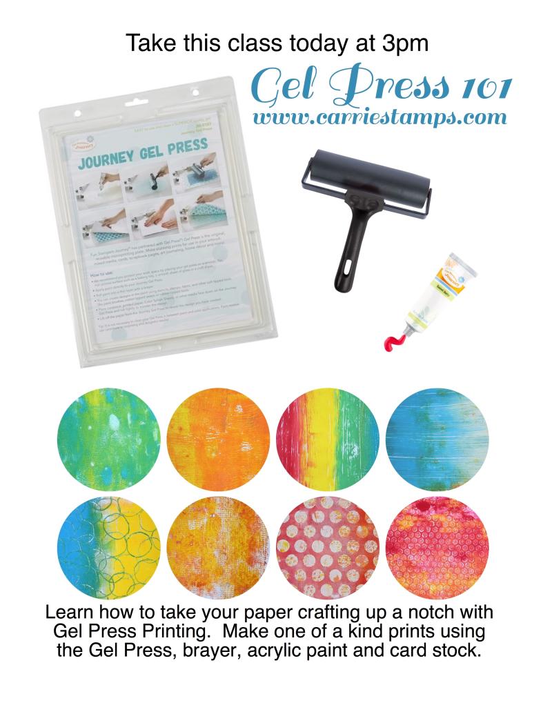 Gel Press 101 flyer