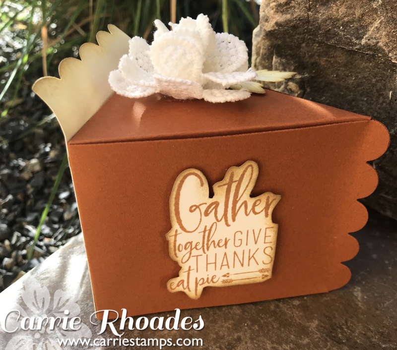 Pumpkin pie box