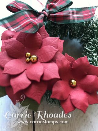 Poinsettia wreath 2