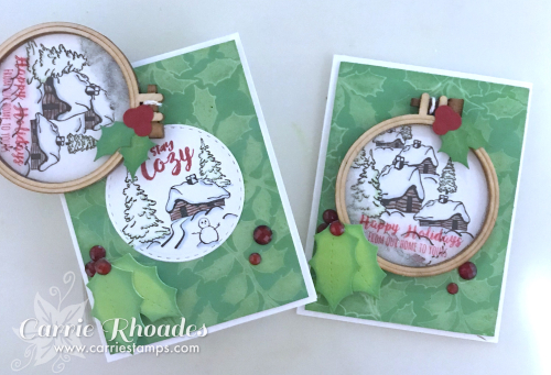 Cozy ornament card
