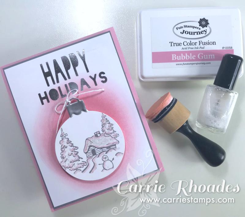 Bubble Gum Christmas card