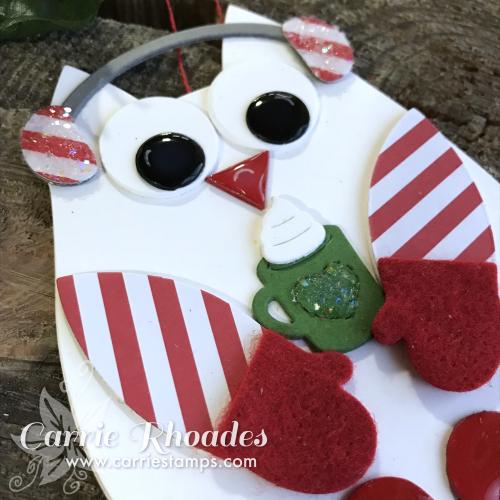 Paper owl ornament 2
