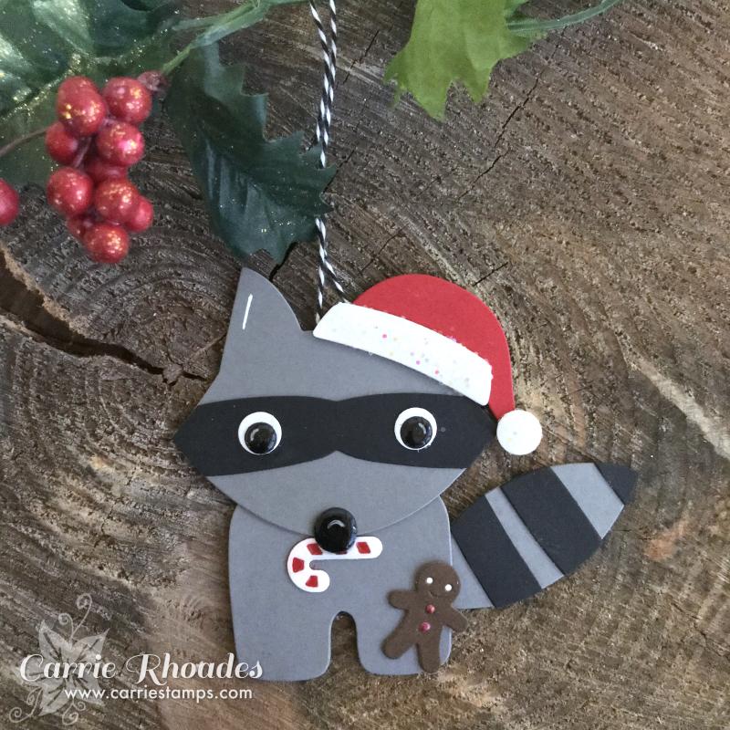 Paper raccoon ornament
