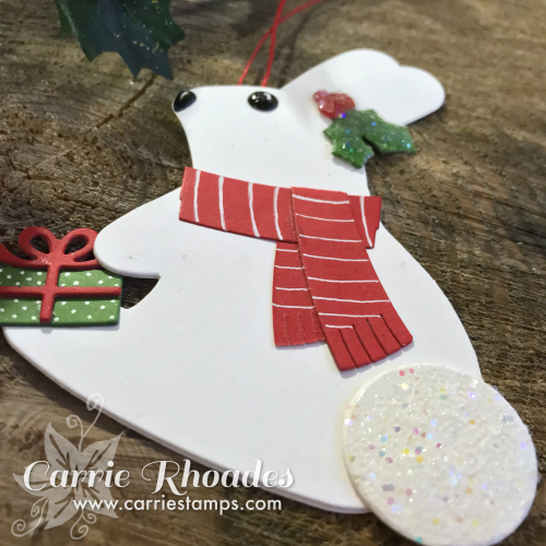Paper bunny ornament 2