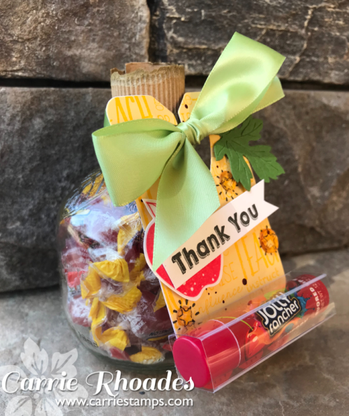 Jolly Rancher Apple  and Lip Balm holder using the FSJ Bread Tag Die