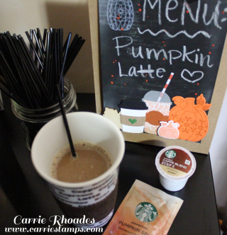 DIY coffee bar sign on the FSJ Clipboard Easel. See how to make yours on my blog: www.carriestamps.com
