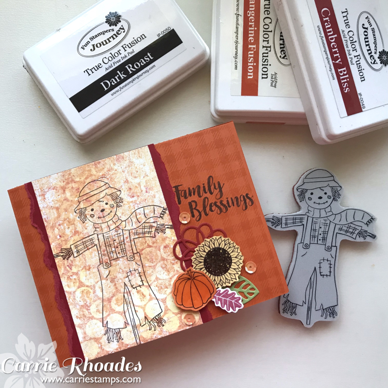Happy Harvest Gel Press Card