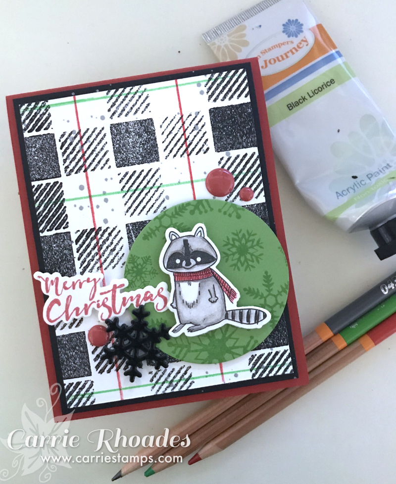 It's Cold Racoon card