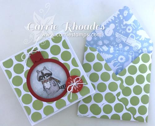 Raccoon Ornament Card