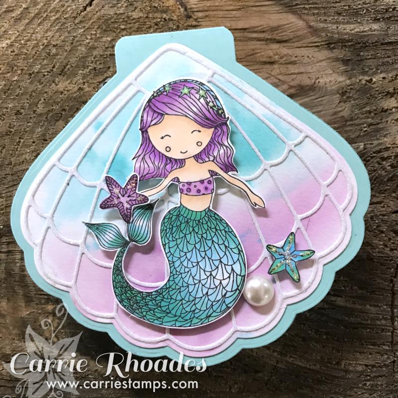 Mermaid card B