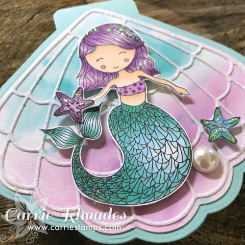 Mermaid shell card Bonus cu