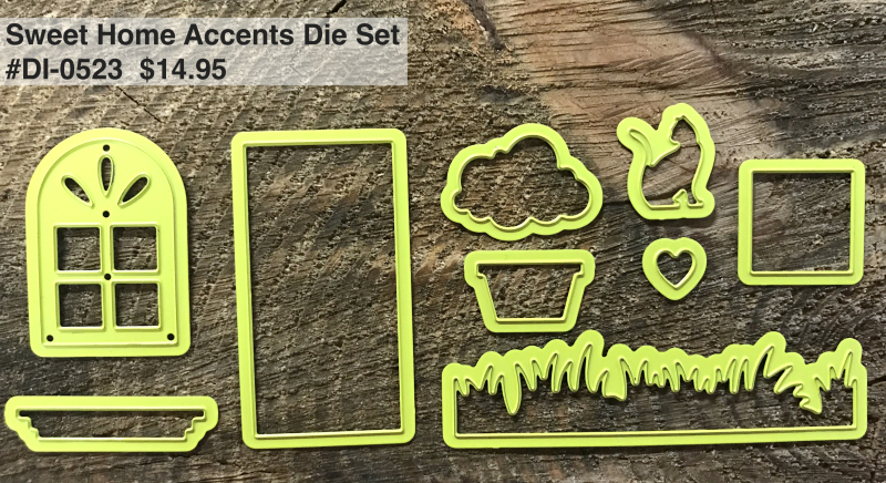 Sweet home accents die set