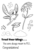 Dragonfly stamp set by Inky Stamper