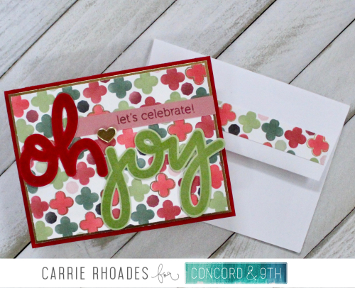 Joyful Tiles Christmas card