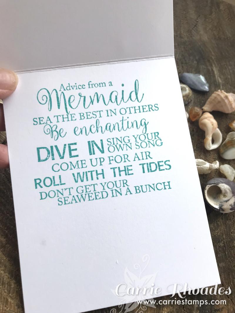 Seashell shaker inside