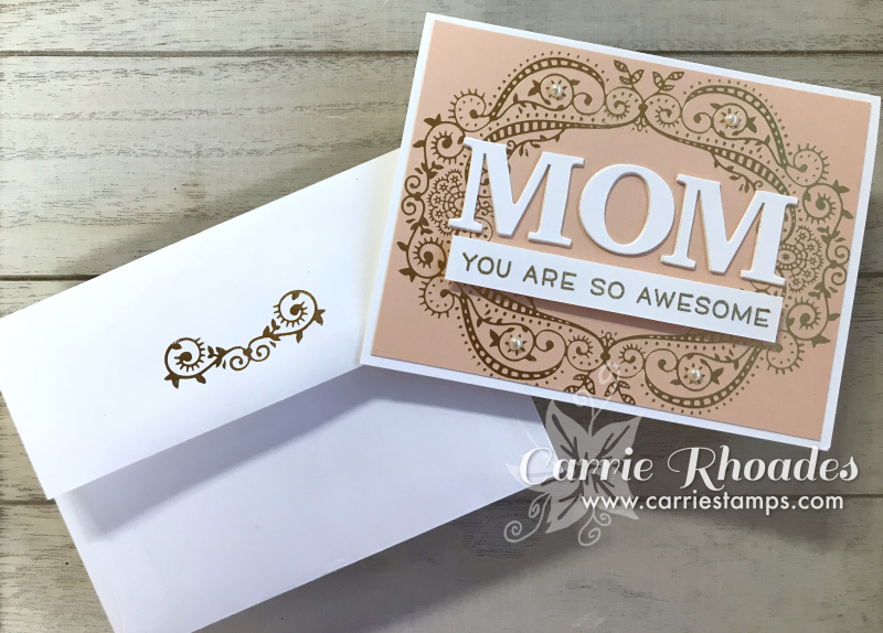 Glimme Hot Foil Mom card